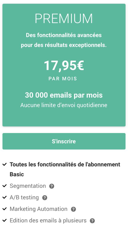 Budget marketing digital - tarif plateforme emailing