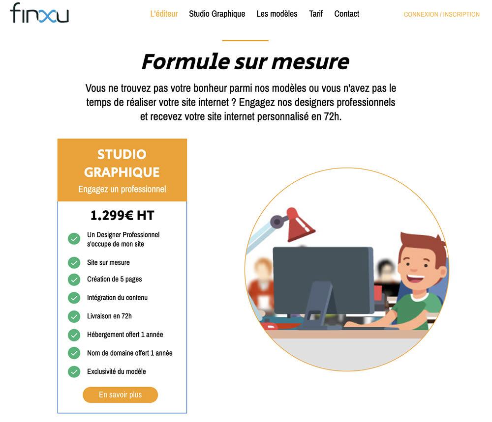 Budget marketing digital - Site sur mesure FINXU